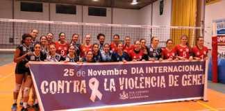 Xativa-Voleibol-y-Tenerife-Arona-contra-la-violencia-de-genero
