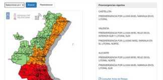 Preemergencia lluvias Valencia y Alicante