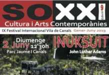 Concierto de clausura de la IX edición del Festival Internacional SoXXI. 2 de junio a las 12'30 en el Parque Jaume I de Canals. Entrada libre.