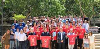 Recibimiento oficial al Club voleibol Xàtiva en el Ayuntamiento de Xàtiva por el título de Campeones de España Junior. El Alcalde de Xàtiva mostro su satisfacción por el gran triunfo conseguido y por dejar tan alto el nombre de Xàtiva a nivel nacional