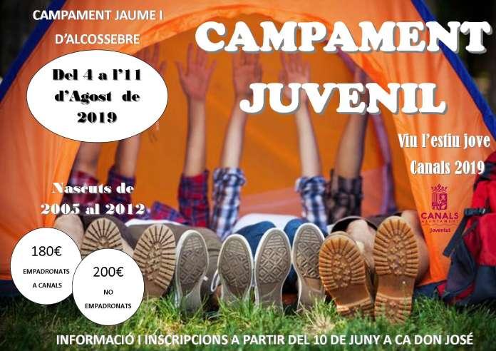 El Campament Juvenil d'Alcossebre torna amb l'edició 2019