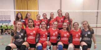 EL equipo cadete femenino del club voleibol medalla de bronce en la Copa Preferente de la Federación de Voleibol de la Comunidad Valenciana.