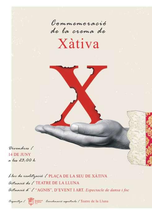 El pròxim 14 de juny es farà un acte recordatori de la Cremà de Xàtiva