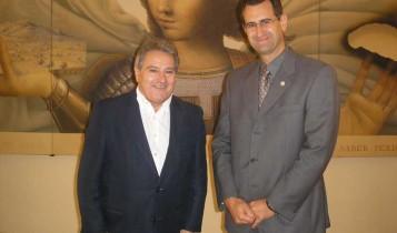 Alfonso Rus y el Vicerector de la Universidad Católica