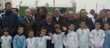 Inauguración campo de fútbol en Pobla Llarga