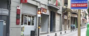 Restricción al tráfico de la Fuente del León en Xàtiva
