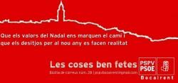 Felicitació Nadal PSOE Bocairent