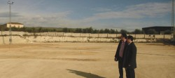Obras del campo de césped artificial de l'Olleria