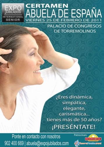 Cartel Certamen Abuela de España 2011