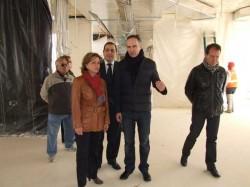 Lina Insa en la visita a las obras CEAM de San Rafael en Ontinyent