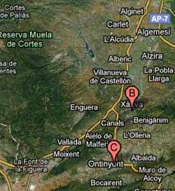 La Ribera Alta, La Costera, La Canal de Navarrés, y la Vall d'Albaida
