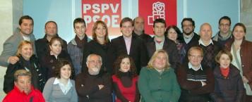 Foto candidatura PSPV-PSOE Xàtiva