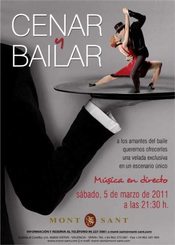 Cenar y Bailar en el Hotel Restaurante Mont Sant de Xàtiva