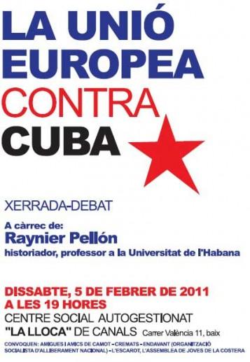 Xerrada 'La Unió Europea contra Cuba'